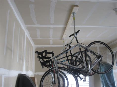 Ceiling Bike Rack Horizontal by Interior Diy Overhead Garage Storage Shelf For Containers