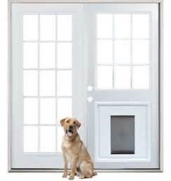 patio french back doors with pre installed pet doggy door