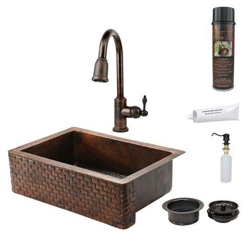 bronze kitchen sink premier copper products all in one undermount hammered 1818
