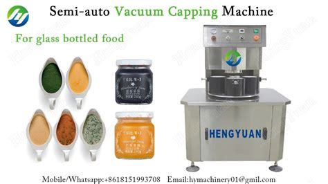 semi automatic vacuum capping machine  glass jar food container seale food containers