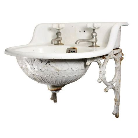 perfect for tiny bath! // Rare Antique Wall Mount Sink