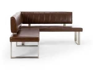 banc d angle sangara en simili cuir marron pour salle 224