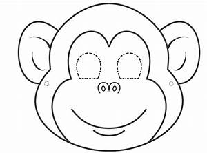 printable monkey template coloring home With monkey body template