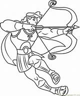 Hercules Bow Coloring Arrow Pages Ready Fight Cartoon Printable Getcolorings Coloringpages101 Fi Print sketch template