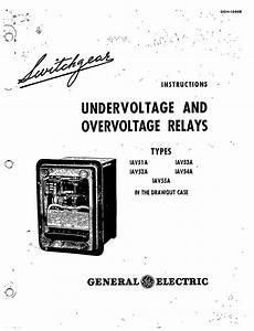 geh 1266b undervoltage and overvoltage relays types iav51a With general electric relay manuals