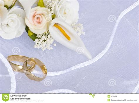 wedding rings  flowers  veil royalty  stock