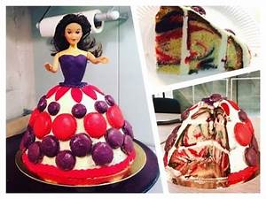 gateau poupee barbie thermomix sponge cake et creme au With gateau robe barbie
