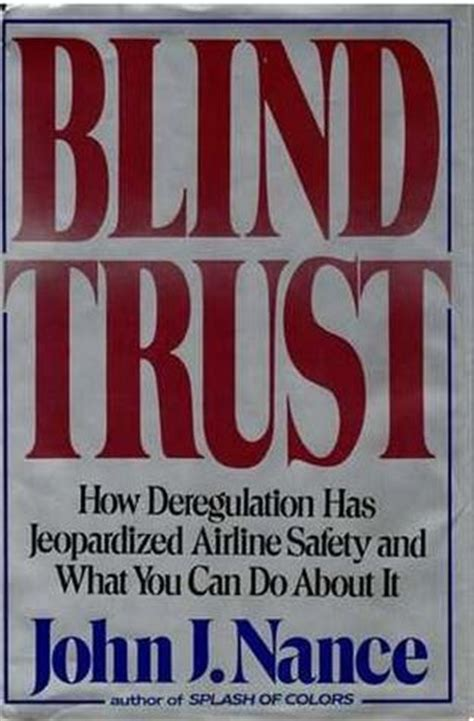 what is blind trust blind trust by j nance reviews discussion