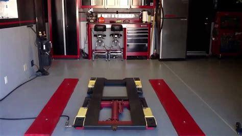 portable metal garage pulling in to the garage setup snap on craftsman