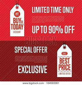 Special Offer Discount Banner Set Vector & Photo | Bigstock