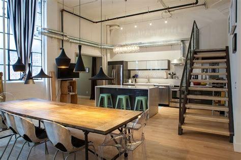 table cuisine style industriel cuisine style industriel élégance authentique