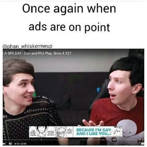 Phan Memes - i swear to god dan and phil are as straight as sherlock and john is that an au where one of