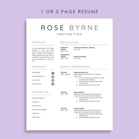 Google Docs Resume Cover Letter Template Collection ...