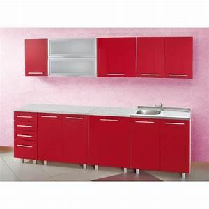 Meuble De Cuisine Rouge Pas Cher Cuisine En Image