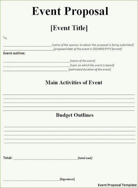 event proposal template   event proposal