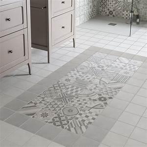 les carreaux de ciment la tendance du moment leroy merlin With carrelage adhesif salle de bain avec projecteur led noir