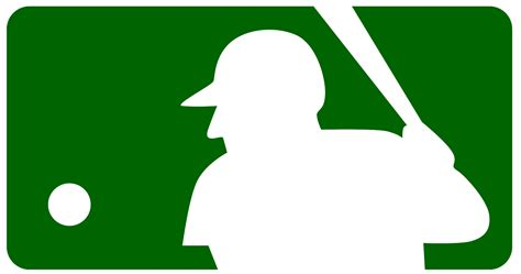 mlb logo silhouette  vector silhouettes