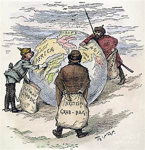 Cartoon - Imperialism 1885 Drawing by Granger