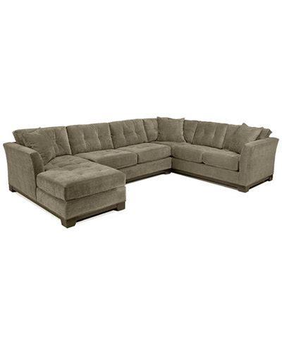 elliot microfiber sofa elliot 3 pc microfiber sectional with sleeper sofa chaise created for macy s