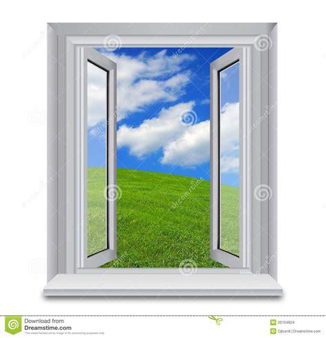 ladder for window open venster aan de blauwe hemelen stock afbeeldingen