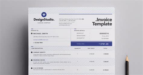 professional invoice template misc print pixeden