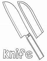 Knife Coloring Pages Knife2 sketch template