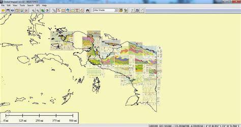 peta geologi lembar papua basemap