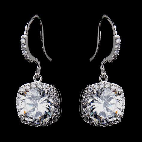 cubic zirconia bridal earrings cz wedding earring for