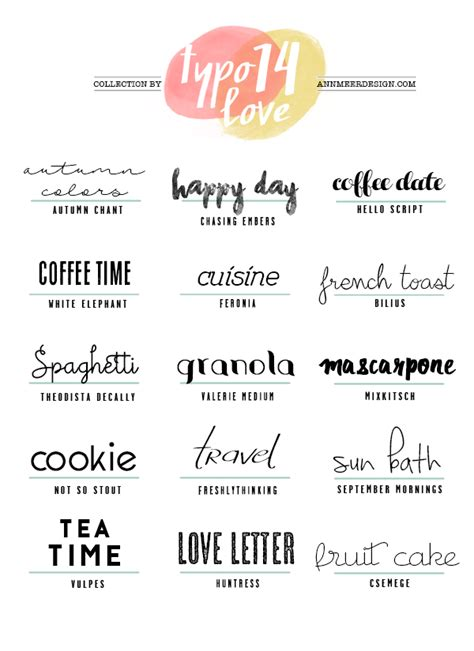 Annmeer By Annamaria Dahmen Lovely Fonts #14