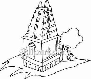 Hindu Temple Clipart Black And White