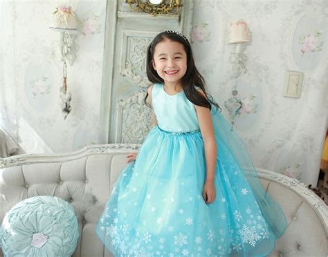 Age 2 10y Girls Customs For Children Snowflake Ice Child