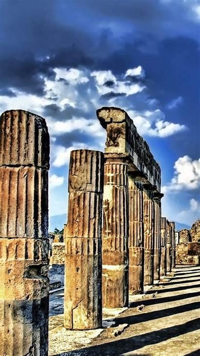 Greek Ancient Greece Ruins Columns Doric Were