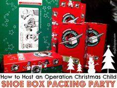 Digital Shoebox Packing Party Banner