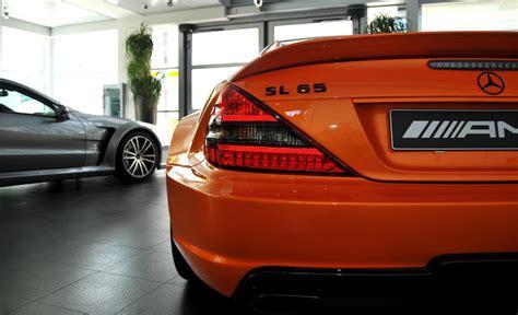 orange mercedes pics lamborghini orange mercedes sl65 amg black series