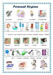 personal hygiene esl worksheet  coyotechus