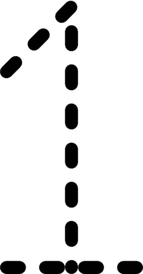 Numbers Tracing Clip Art at Clker.com - vector clip art