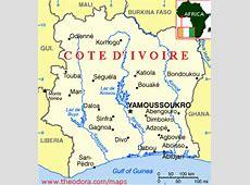 Maps of Cote d' Ivoire Cote d' Ivoire Flags, Maps