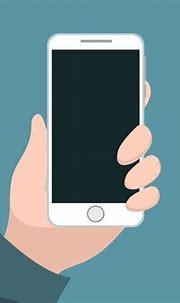 Pessoa Segurando O Celular Com A Mão   Hand holding phone ...