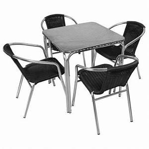 Table Et Chaise Terrasse Aluminium MobEventPro