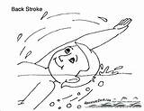 Coloring Swimming Pages Summer Bathing Suit Pool Boy Getdrawings Popular sketch template