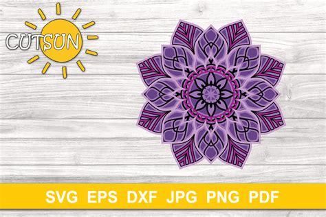 See more ideas about svg, cricut, mandala. Mandala SVG | 3D Layered Mandala SVG cut file 5 layers ...