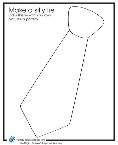 Tie Template Silly Tie Coloring Page Jaxons In A Tie 1st