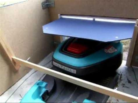 gardena rliklappe garage automower youtube
