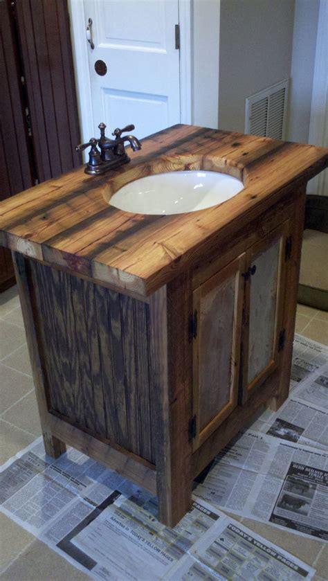 how to make a rustic bathroom vanity rustic bathroom vanity barn wood pine undermount sink 650 00 via etsy home rennovation