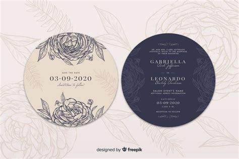 simple wedding invitation  hand drawn roses