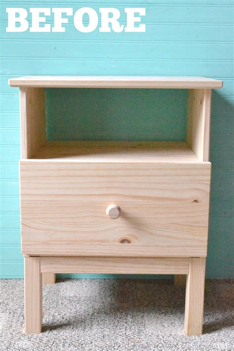 ikea tarva nightstand makeover caitlin wilson inspired