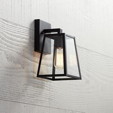 arrington 10 3 4 quot high mystic black outdoor wall light in