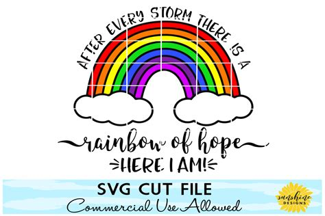 All orders are custom made and most ship worldwide within 24 hours. RAINBOW BABY SVG, AFTER EVERY STORM THE   Design Bundles