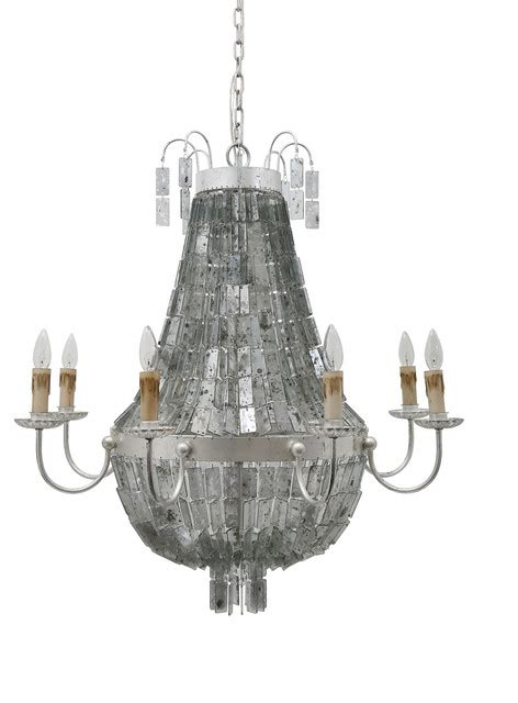 Antique Mirror Chandelier by Khloe Country Vintage Silver Antique Mirror Glass 8