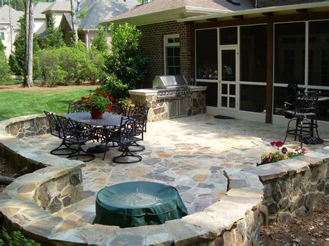 Outdoors Patio : Stone Patios Design & Construction
